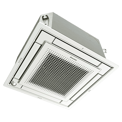 Daikin VISTA™ Ceiling Cassette indoor multi-zone ductless unit.